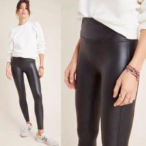 Spanx Faux Leather Leggings Black Anthropologie S